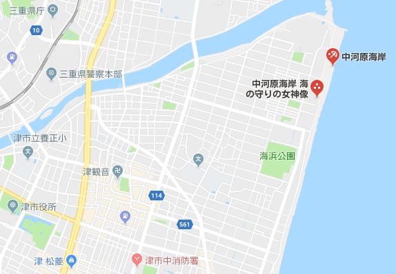 中河原海岸 地図